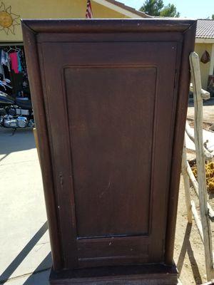 Vintage wardrobe w/skeleton key for Sale in Apple Valley, CA