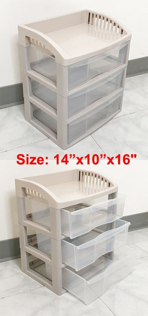 """New $10 each 3-Tier Plastic Desk Organizer Tray Drawer for Home Office Paper, 14x10x16"""" for Sale in Whittier, CA"""