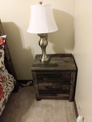 Ashley's nightstand and lamp shade for Sale in Wichita, KS