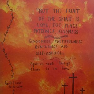 What Are The Fruits Of The Holy Spirit?.. #divineart #handpainted #acrylicpainting for Sale in Fort Pierce, FL