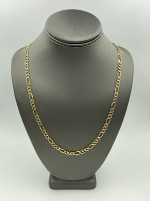 14KT YELLOW GOLD FIGARO LINK CHAIN for Sale in Rialto, CA