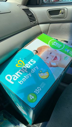 Pampers size 4 and 5 diapers unopened for Sale in Chicopee, MA