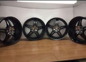 "22"" rims!! Black with chrome center caps!! for Sale in Brandon, FL"