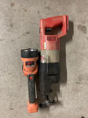Milwaukee sawzall and light for Sale in San Marcos, CA