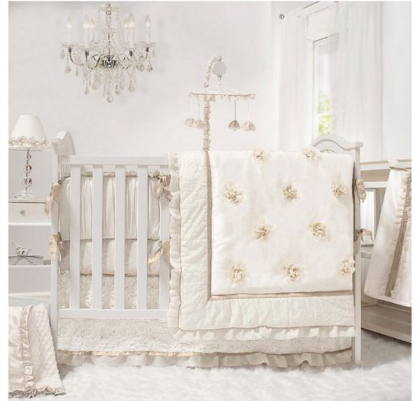 Crib with Changing Table, Rocking Chair Set and Bedding