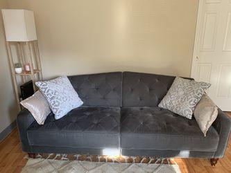 Dark Grey Velvet Futon for Sale in Nashville,  TN