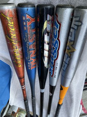 Aluminum baseball bats 25 inches to 30 inches $10 each for Sale in Cerritos, CA