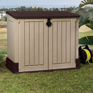 MIDI 4 ft. W x 2.4 ft. D Plastic Horizontal Garbage Shed for Sale in Los Angeles, CA