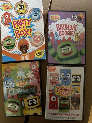 Yo gabba gabba. Party in a box dvd set for Sale in Lacey, WA