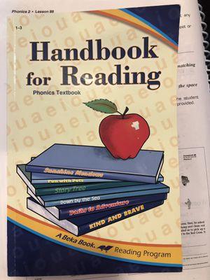 Abeka Home School Handbook for Reading 1st grade for Sale for sale  Creedmoor, TX