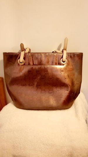 Official Michael Kors Bags | Michael Kors Brown Shiny Tote Bag | Color: Brown for Sale in Philadelphia, PA