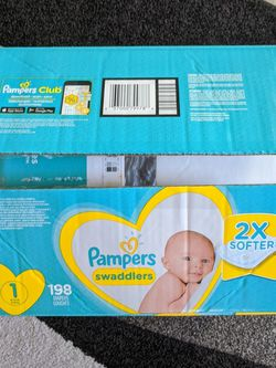 Pampers Swaddlers Diapers NEW Open Box for Sale in Largo,  FL