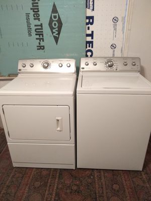 Maytag centennial commercial technology washer and gas dryer set water an energy efficient both 3 years old delivered install working for free for Sale in Pittsburgh, PA