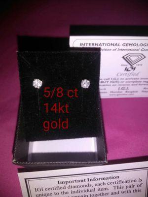 5/8 carat diamond earrings for Sale in Columbus, OH