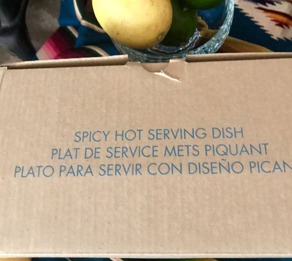 Spicy Chili Serving Dish