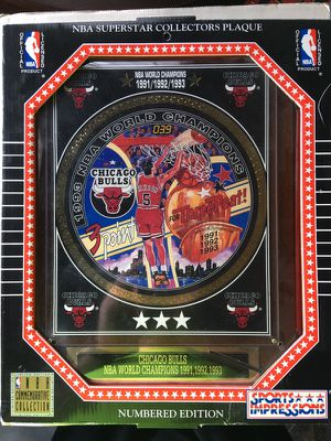 Chicago Bulls 3 Peat Plaque -New for Sale in St. Louis, MO