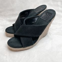 Tory Burch Black Bailey Espadrille Wedges for Sale in San Diego,  CA