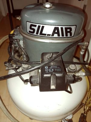 Sil-Air 50-24 6 Gallon Silent Air Compressor Medical/Dental silent air compressor. You can run it inside your home without any disturbances at all! for Sale in Greenville, SC