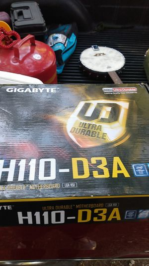 Gigabyte H110-D3A LGA 1151 ultra durable motherboard for Sale in Forest Hill, TX