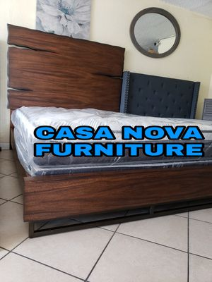 BRAND NEW BED FRAME QUEEN COMES IN BOX 📢📢📢📢📢MATTRESS AND BOX SPRING INCLUDED 📢📢📢📢📢📢IN STOCK 📢📢📢📢📢 for Sale in Compton, CA