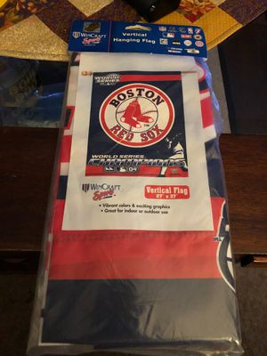 2004 World Series Boston Red Sox vertical Flag UT6• for Sale in Hayward, CA