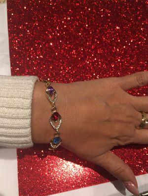 Water Drop Bracelet Love Teardrop Austria Crystals Bracelet Copper Gold-Color Jewelry $6 for Sale in Avondale, AZ