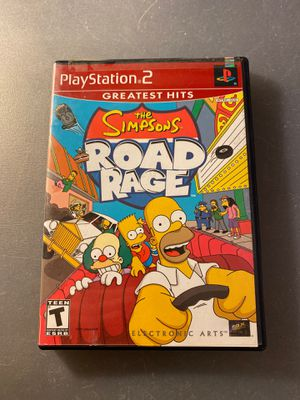 The simpsons road rage playstation 2 ps2 for Sale in Anaheim, CA