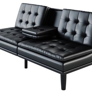 Memory Foam Leather Futon for Sale in Buford, GA
