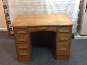 Vintage oak desk for Sale in Weymouth, MA