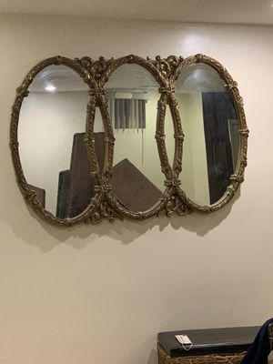 Very nice large decorative mirror for Sale in Dearborn, MI