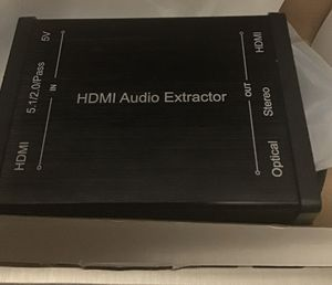 HDMI Audio Extractor. 4K Open/Damaged box. Like new. Unused. for Sale in Nitro, WV