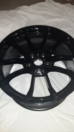 1 - NEW 19X10 GLOSS BLACK CORVETTE C7 FRONT WHEEL RIM for Sale in Scottsdale, AZ