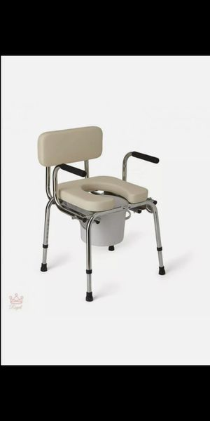 Camping Toilet Deluxe! SUPER PADDED WITH BACKREST BRAND NEW Padded Arm rest seat Commode Travel for Sale in Rialto, CA