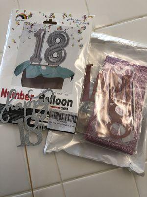 18th birthday supplies for Sale in Murrieta, CA