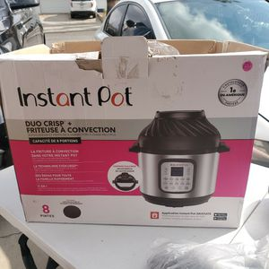 Instant Pot Duo Crisp + AIR FRYER 11 IN 1 8 QUARTS $95 NEW one Small Dent As Shown In Picture for Sale in Moreno Valley, CA