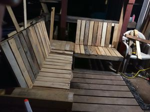 Wood handmade L shaped indoor/outdoor furniture for Sale in San Antonio, TX