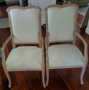 Pair of Chateau D' Ax Solid Wood Frame Fully Upholstered End Chairs for Sale in Fort Lauderdale, FL