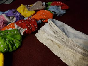 23 reusable diapers with 23 inserts for Sale in Clovis, CA