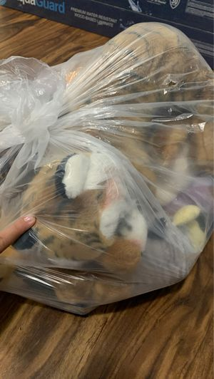 a bag of stuffed animals for Sale in Washington, DC
