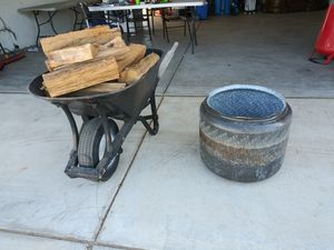 Wood and fire pit 40 for both for Sale in Hesperia, CA