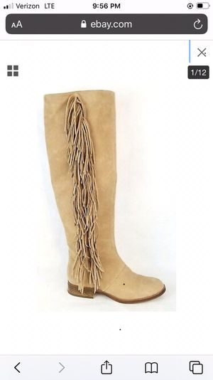 Sam Edelman Size 9 over the knee fringe boot for Sale in West Bloomfield Township, MI