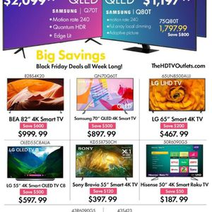 BLACK FRIDAY DEALS on 4K SMART TVs for Sale in Chino, CA