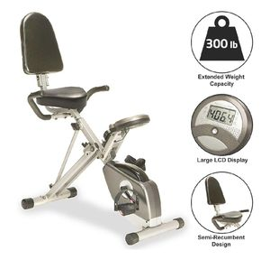 Exercise Bike Exerpeutic 400 XL Folding Recumbent Bike with Big Wide Comfy Seat for Sale in La Mesa, CA
