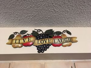Live love laugh 3ft Wall Decor for Sale in Jacksonville, FL