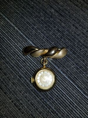50s ERA WALZ GOLD DOUBLE, 20 MICRON BROOCH WATCH for Sale in Bethesda, MD