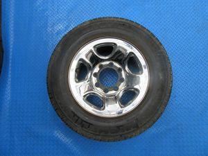 "17"" Dodge Ram 1500 2500 3500 SRW 8 lug steel chrome clad wheel rim tire #6312 for Sale in Miami, FL"