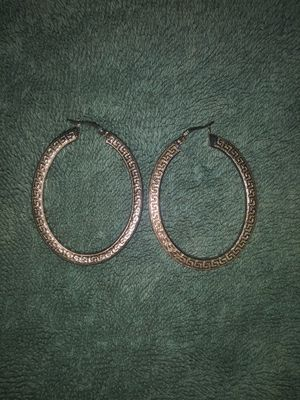 Sterling silver hoop earrings for Sale in White, GA
