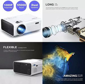 Projector Mini LED Video Home Theater Supporting 1080P 55 000 Hours L WHITE P600 for Sale in Rowland Heights, CA