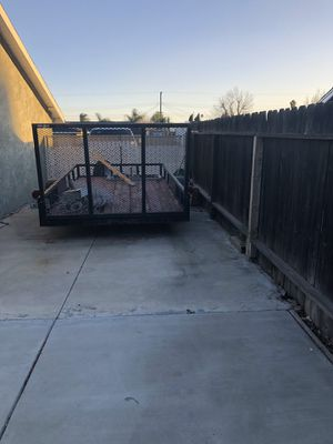 12'x7' trailer , new spare , lighting pink slip in hand for Sale in Rancho Cucamonga, CA