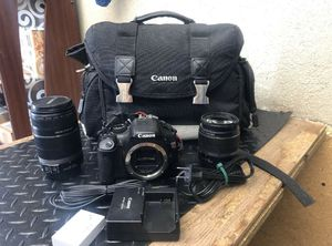 Canon EOS Rebel T2i 18.0MP Digital SLR Camera Black Kit w/ 2 Lens & Bag for Sale in Phelan, CA
